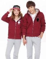 Áo khoác cặp hình thỏ - đỏ đô